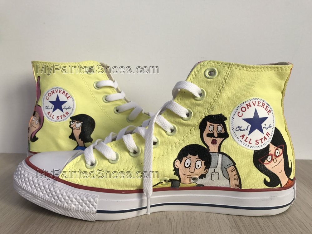 Bob's Burgers Chuck Taylors Sneakers Hi Tops Customised Shoes-3