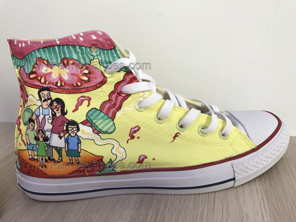 Bob's Burgers Chuck Taylors Sneakers Hi Tops Customised Shoes-4