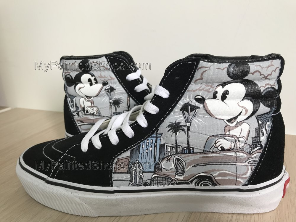 Mickey Mouse Vans High Tops Chuck Taylors Sneakers Hi Tops-1