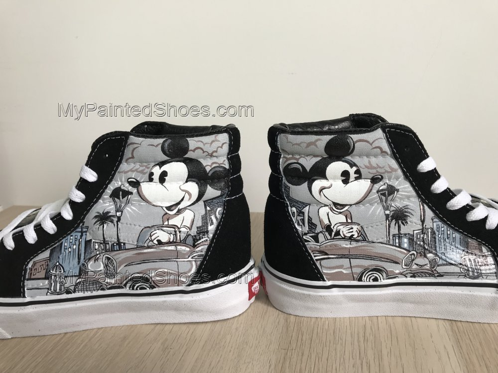 Mickey Mouse Vans High Tops Chuck Taylors Sneakers Hi Tops-2