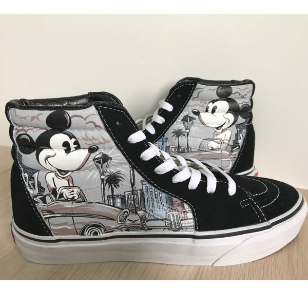 Mickey Mouse Vans High Tops Chuck Taylors Sneakers Hi Tops