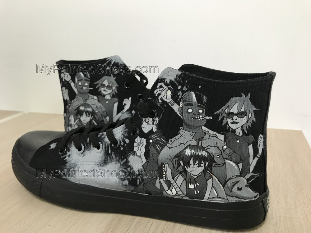 Gorillaz Shoes Gorillaz Chuck Taylors Gorillaz High Tops-1