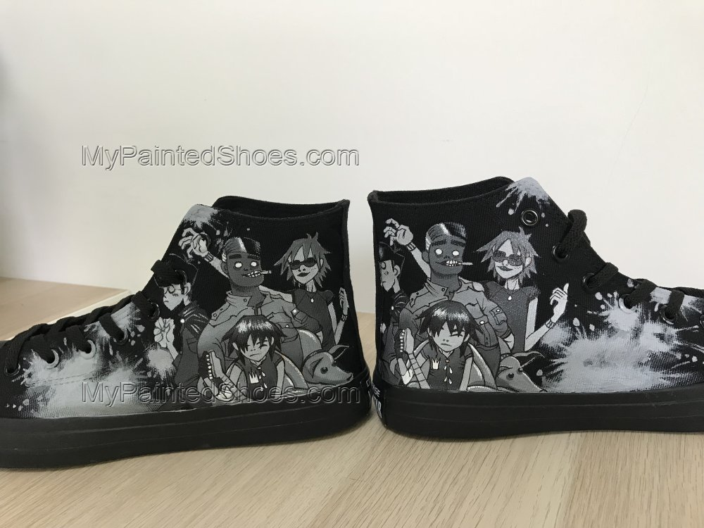 Gorillaz Shoes Gorillaz Chuck Taylors Gorillaz High Tops-2