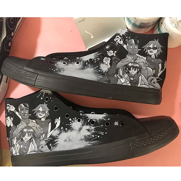 Gorillaz Shoes Gorillaz Chuck Taylors Gorillaz High Tops