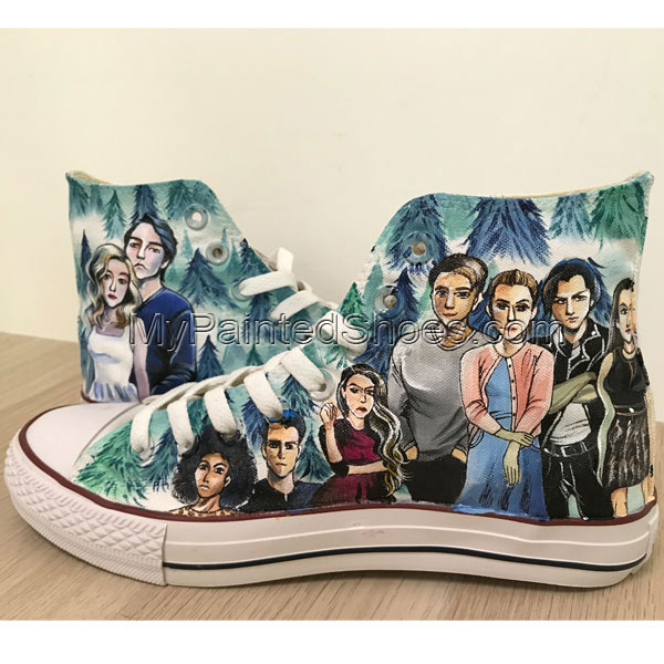 Riverdale Shoes Sneakers For Girls Hand Painted Shoes Hi Tops