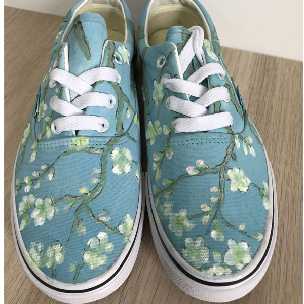 Vincent Van Gogh Blossoming Almond Tree Hand Painted Vans Authen