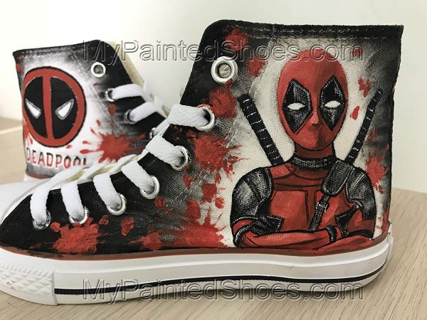 Deadpool Shoes Customised Shoes for Women Men Hand Painted-1