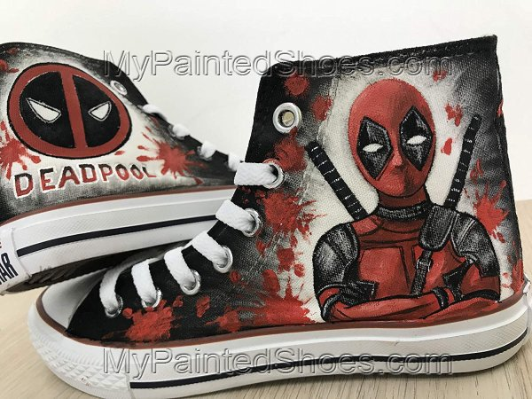 Deadpool Shoes Customised Shoes for Women Men Hand Painted