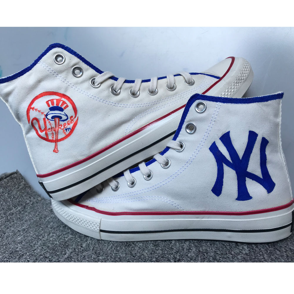 New York Yankees Shoes Hand Painted Shoes Fashion Custom Sneaker-1