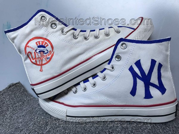 New York Yankees Shoes Hand Painted Shoes Fashion Custom Sneaker-3