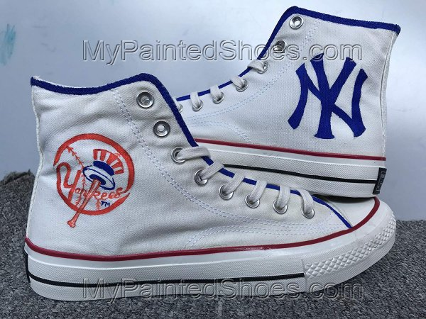 New York Yankees Shoes Hand Painted Shoes Fashion Custom Sneaker