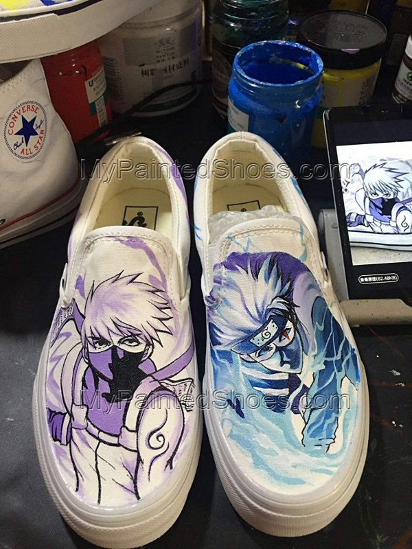 NARUTO Vans Shoes Kakashi Hatake Vans Shoes Custom Hand Painted