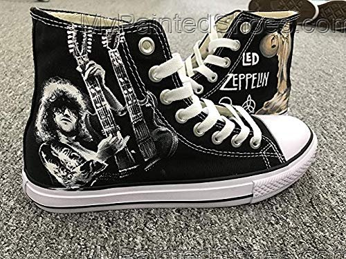 Led Zeppelin Jimmy Page Shoes Sneakers Hi Tops Customised Shoes