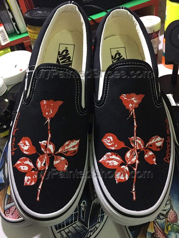 Depeche Mode Rose Vans Shoes Depeche Mode Violator Shoes