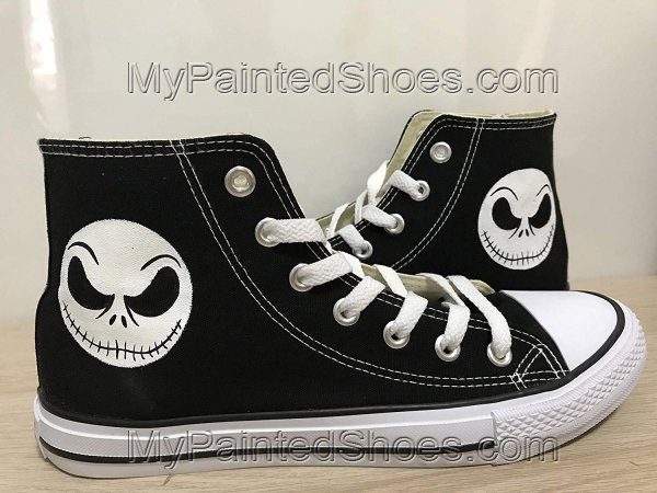 The Nightmare Before Christmas Shoes Sneakers Hi Tops Customised-1