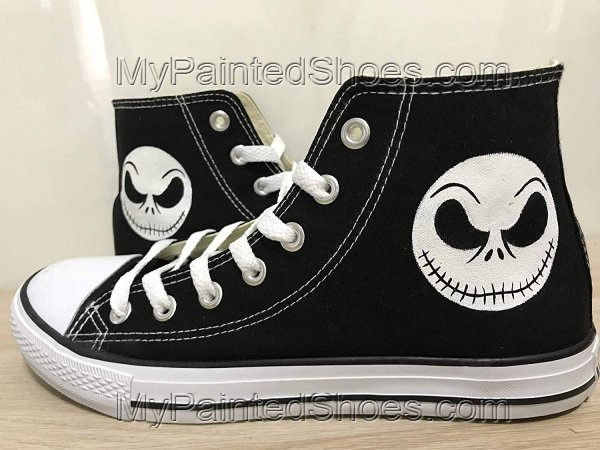 The Nightmare Before Christmas Shoes Sneakers Hi Tops Customised
