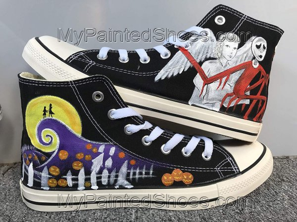 Customised Shoes Nightmare Before Christmas Shoes Sneakers Hi To-2