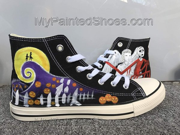 Customised Shoes Nightmare Before Christmas Shoes Sneakers Hi To