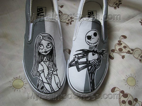 Jack and Sally Shoes Nightmare Before Christma Shoes Anime Shoes