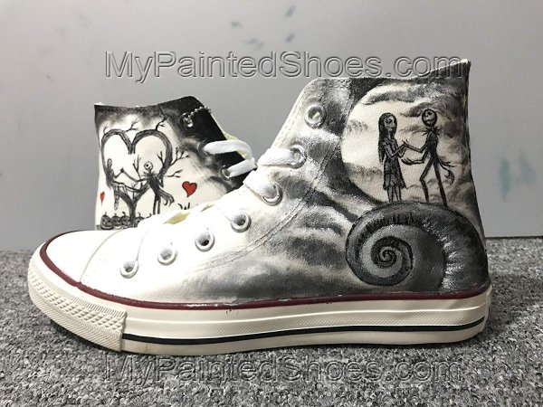 Nightmare Before Christmas Jack and Sally Fashion Custom Sneaker-1