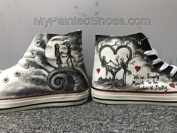 Nightmare Before Christmas Jack and Sally Fashion Custom Sneaker-2