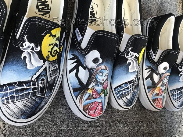 Jack and Sally Shoes The Nightmare Before Christmas Vans Shoes-2