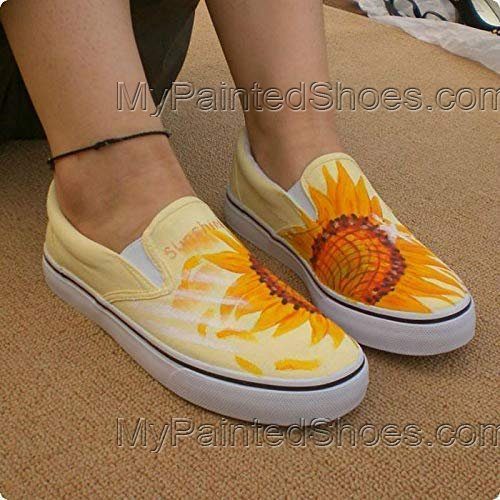 Sunflower Vans Shoes for Women Vans Sunflower Shoes