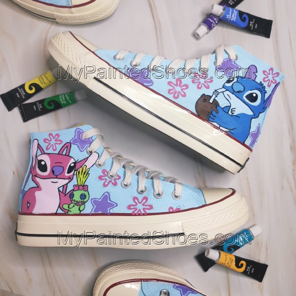 Stitch High Tops Lilo Shoes Stitch Shoes Lilo and Stitch Shoes A