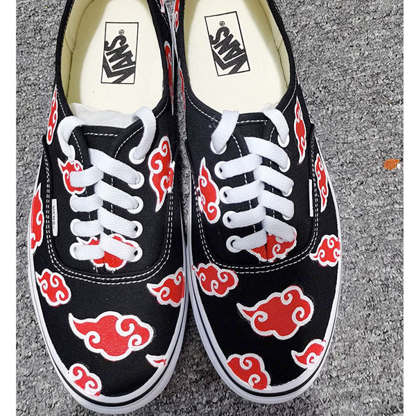 Custom Vans Authentic Akatsuki Cloud Vans Shoes
