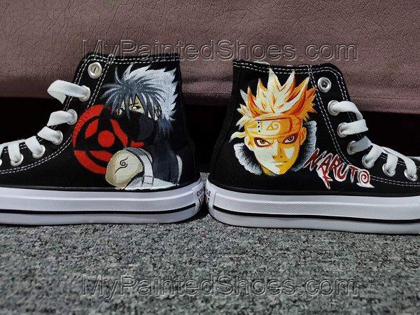 Naruto Uzumaki Naruto Hatake Kakashi Cosplay Shoes Hand Painting-2