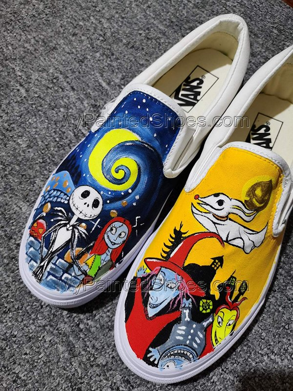 Jack and Sally Skellington Vans The Nighmare Fans-1