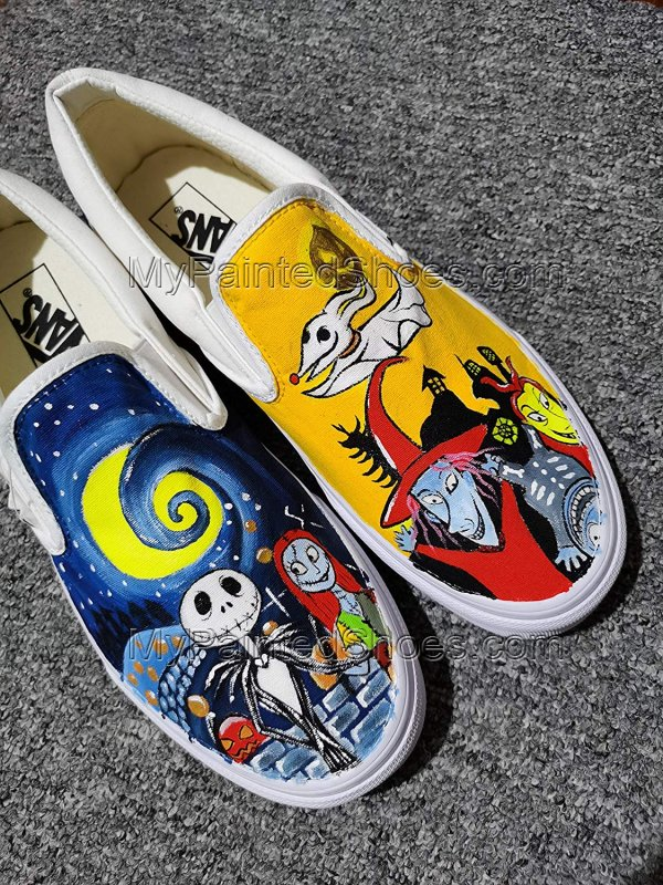 Jack and Sally Skellington Vans The Nighmare Fans-2