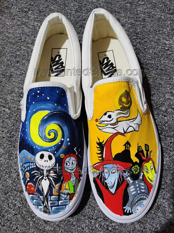 Jack and Sally Skellington Vans The Nighmare Fans-3