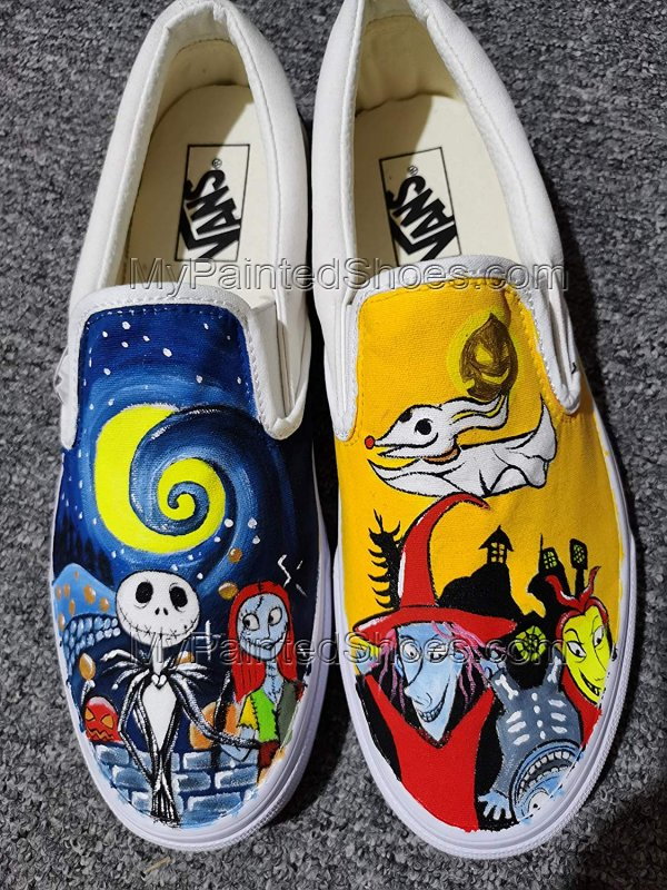 Jack and Sally Skellington Vans The Nighmare Fans