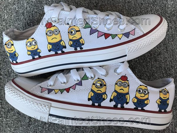 Minions Anime Shoes Custom Sneakers for Women Men-1
