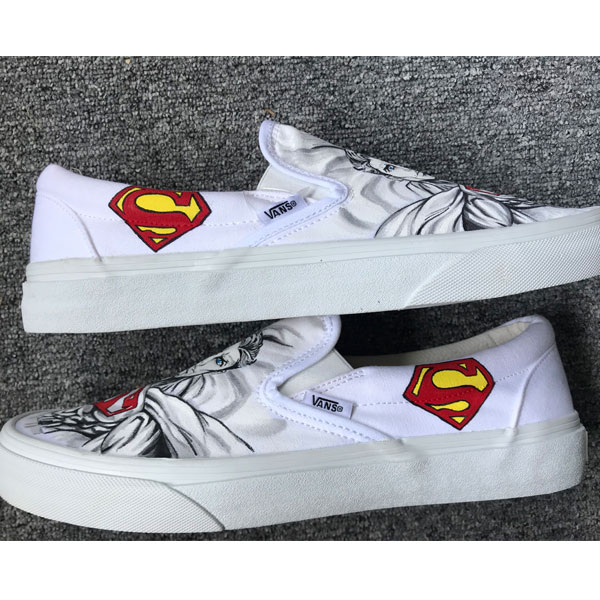 Superman Vans Custom Shoes Superman Vans Custom Superman Shoes-3
