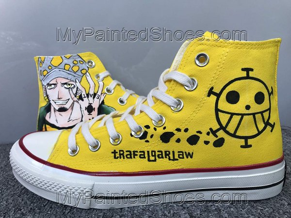 Anime Shoes One Piece Shoes Hi Tops Customised Shoes-1