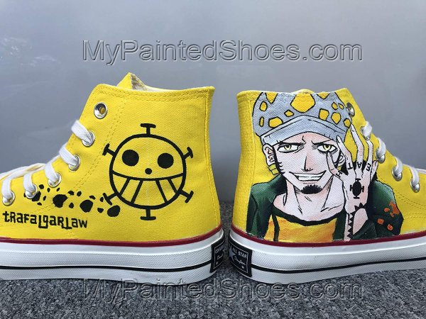 Anime Shoes One Piece Shoes Hi Tops Customised Shoes-2