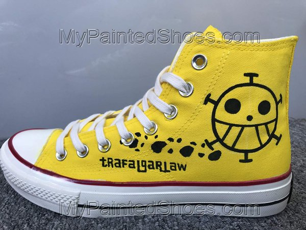 Anime Shoes One Piece Shoes Hi Tops Customised Shoes-4