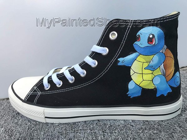Customised Shoes Squirtle Shoes Sneakers Hi Tops Customised Shoe-1
