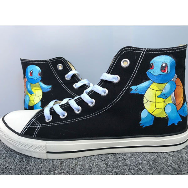 Customised Shoes Squirtle Shoes Sneakers Hi Tops Customised Shoe