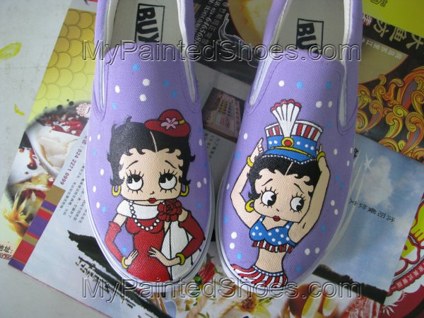 Betty Boop Anime Shoes Painted Canvas Shoes