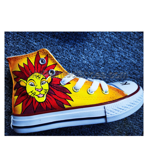 Hand Painted Shoes Design Custom Lion King Baby High Top Men Wom-3