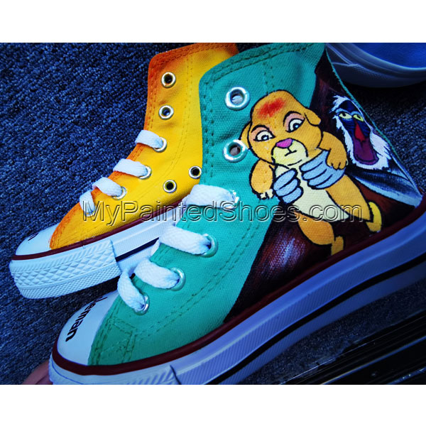 Hand Painted Shoes Design Custom Lion King Baby High Top Men Wom-4