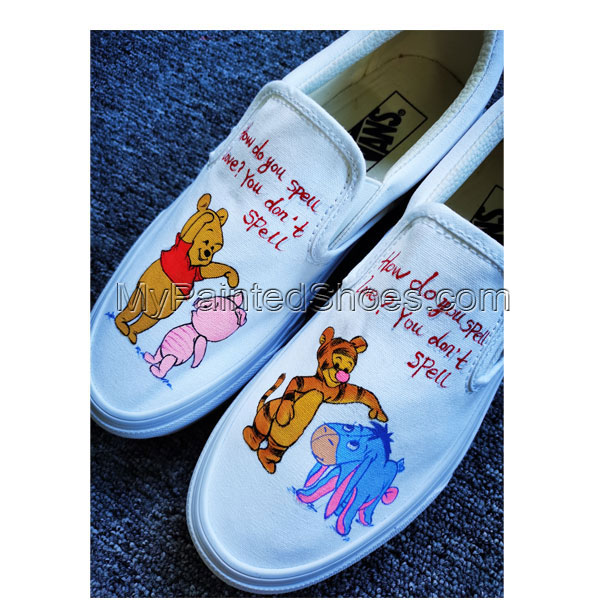 Winnie-the-Poo Hand Painted Shoes Design Custom Men Women Canvas-2