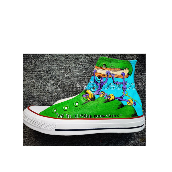 Hand Painted Shoes Design Custom Dr. Seuss High Top Men Women Ca-3