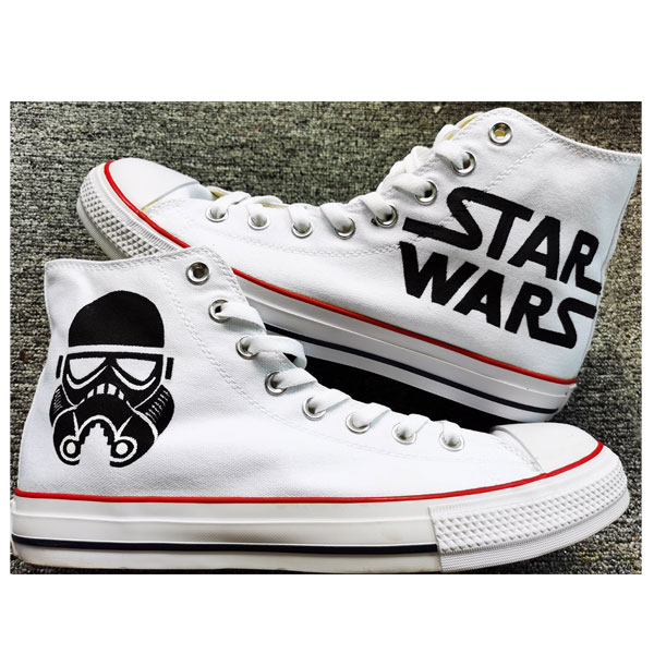 Star Wars Hand Painted Shoes Darth Vader Shoes Free Shipping