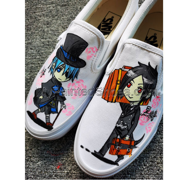Black Butler Anime Shoes Hand Painted Shoes Custom Painted Shoes-1