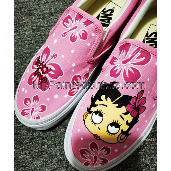 Betty Boop Anime Shoes Hand Painted Shoes Anime Canvas Sneakers-2