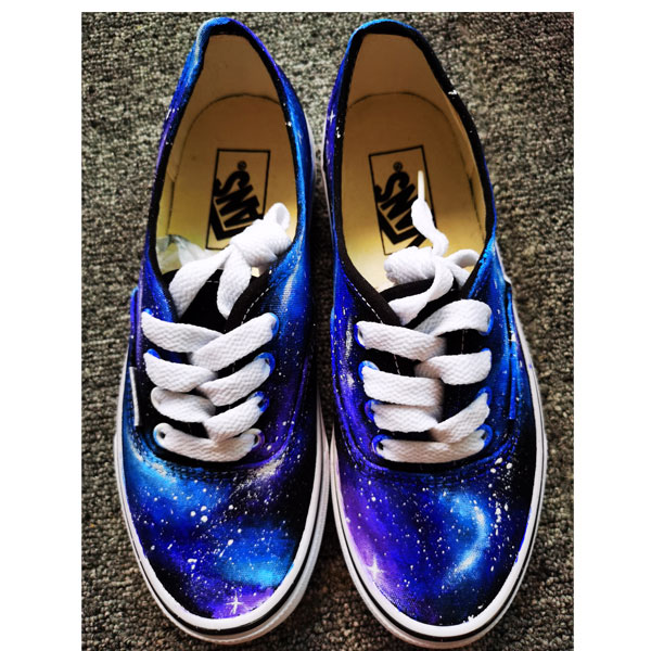 Galaxy Shoes Custom Hand Painted Galaxy Canvas Shoes